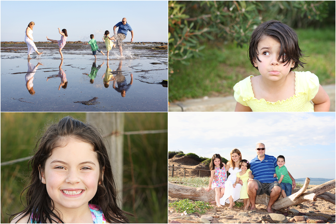 long reef beach, family photography, reflections