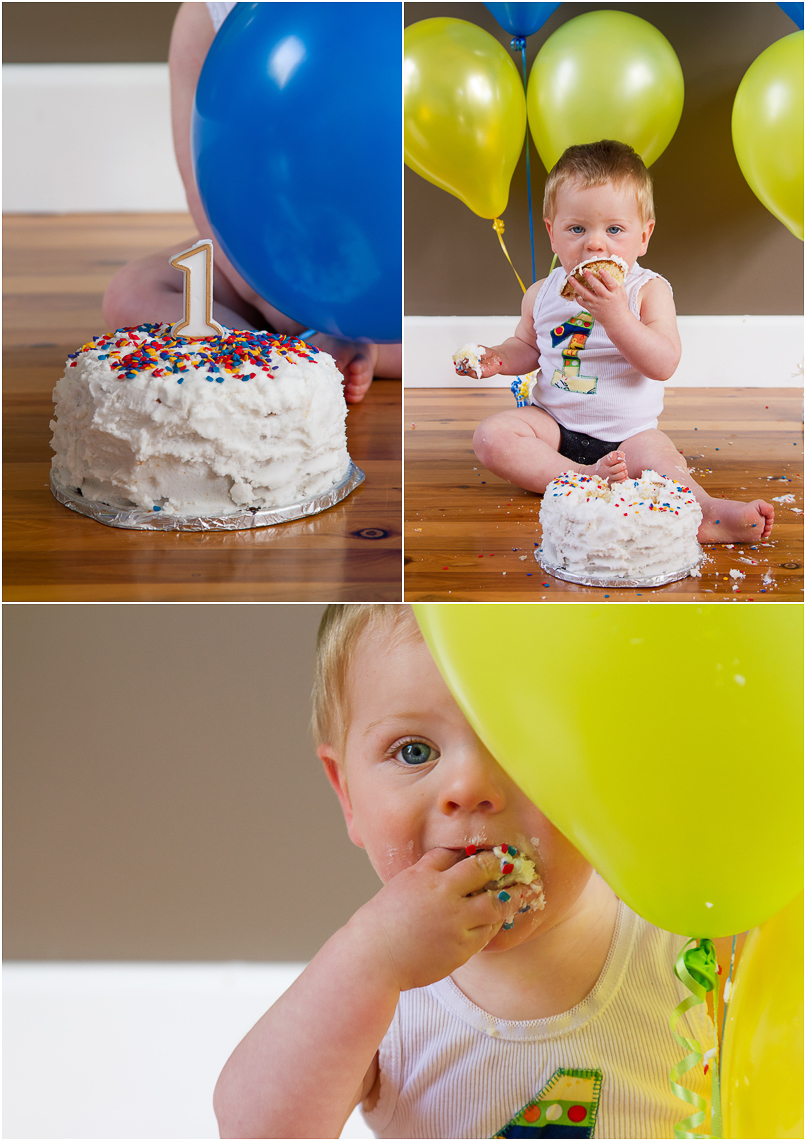 cake smash, one year old boy