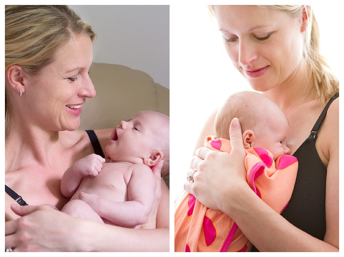 mother and baby newborn photography